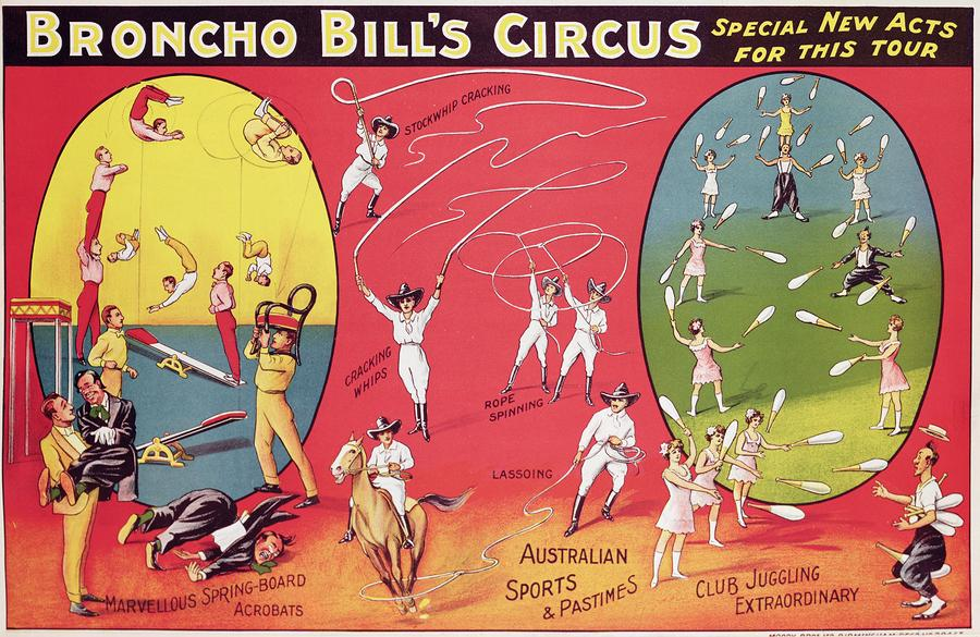 Bronco Bills Circus Painting  - Bronco Bills Circus Fine Art Print