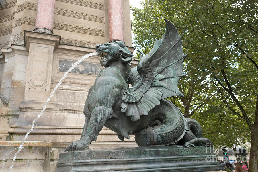 Saint-Michel Fountain In Paris