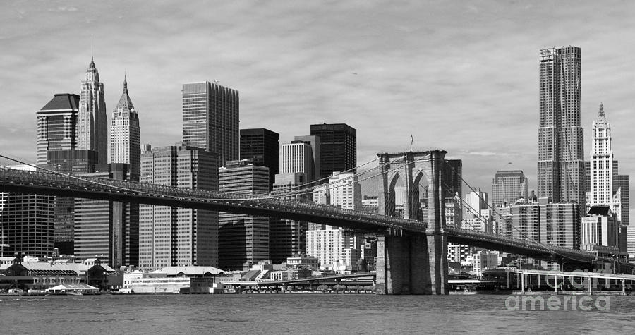 Brooklyn Bridge And Skyline Photograph