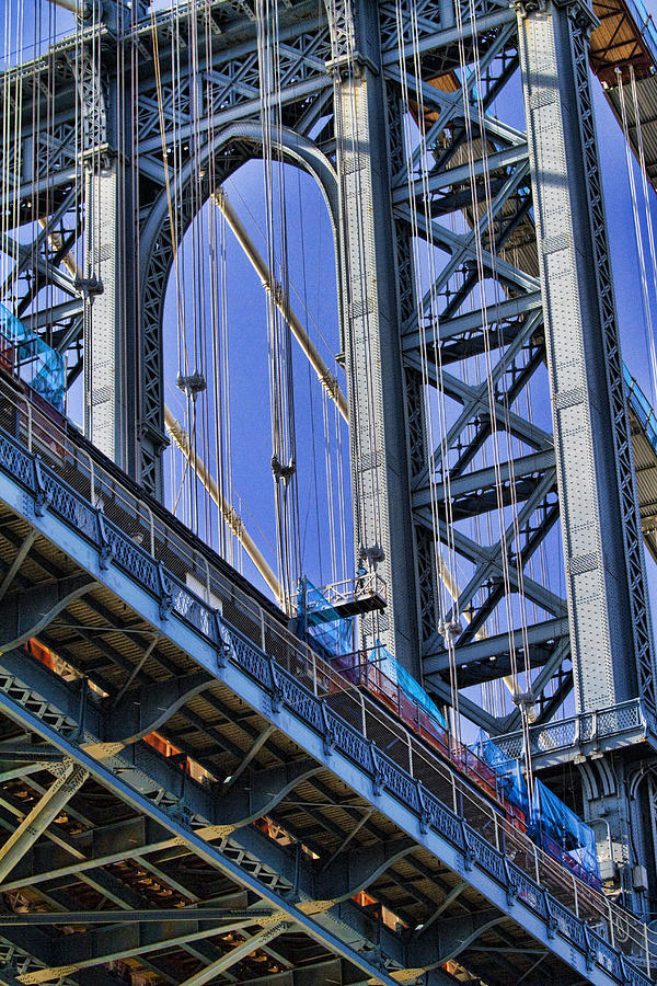 Brooklyn Bridge Close-up Photograph  - Brooklyn Bridge Close-up Fine Art Print