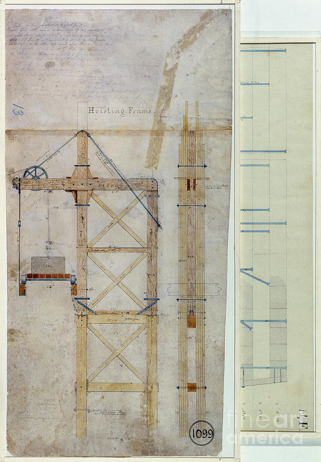 Brooklyn Bridge Diagram Drawing  - Brooklyn Bridge Diagram Fine Art Print