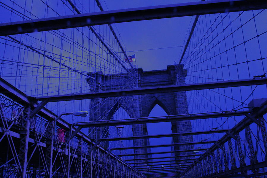 Brooklyn Bridge In A Storm Photograph  - Brooklyn Bridge In A Storm Fine Art Print