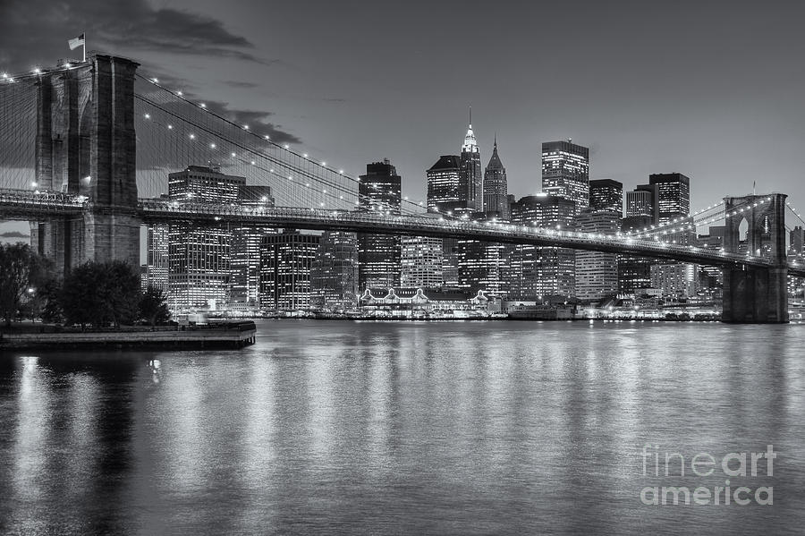 Brooklyn Bridge Twilight II Photograph  - Brooklyn Bridge Twilight II Fine Art Print