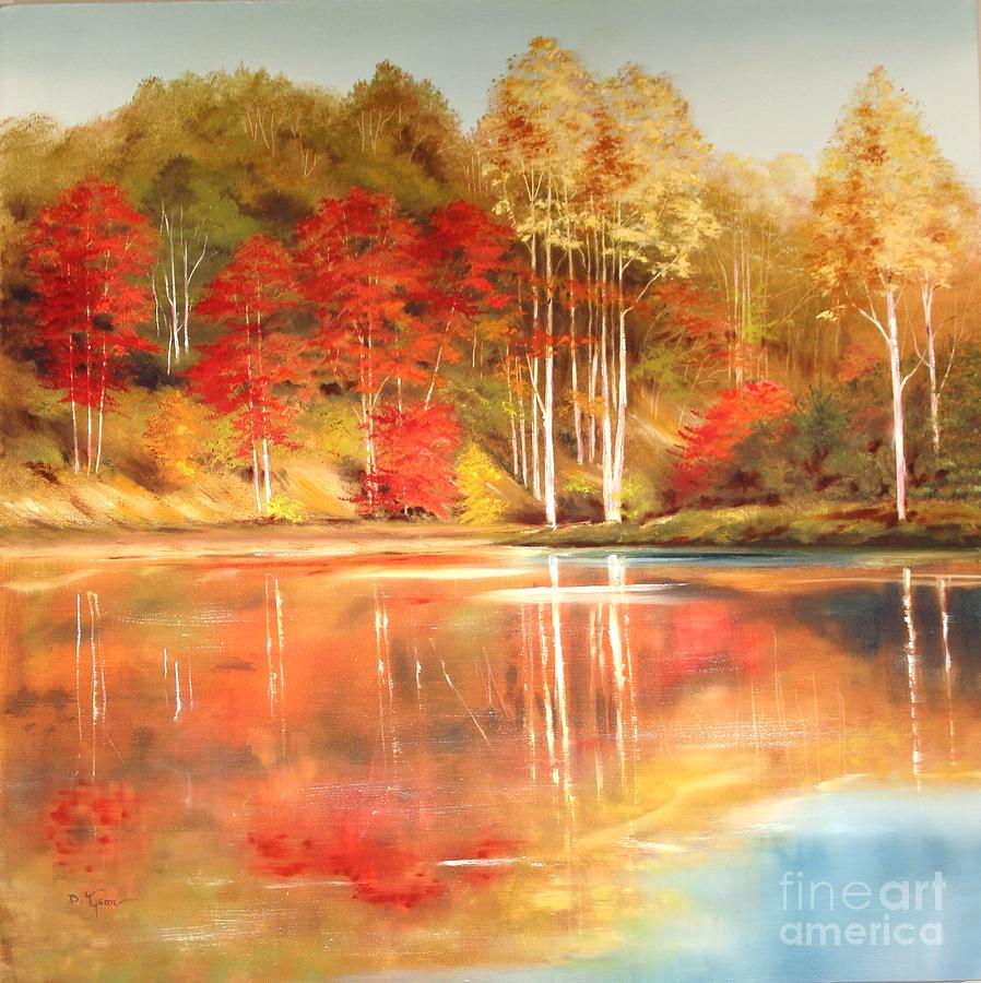 Brooks Pond Painting  - Brooks Pond Fine Art Print