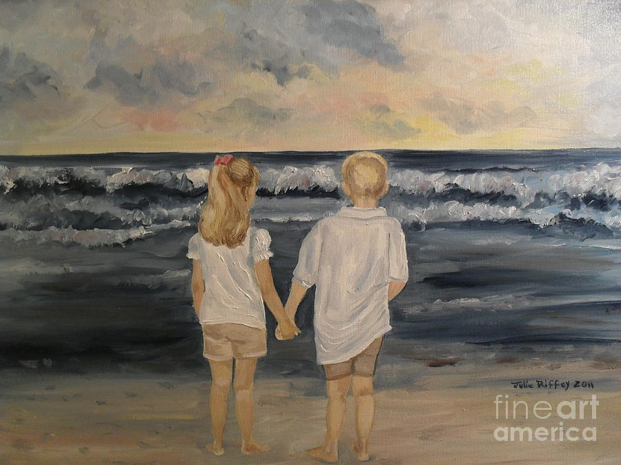 Brother And Sister Painting  - Brother And Sister Fine Art Print