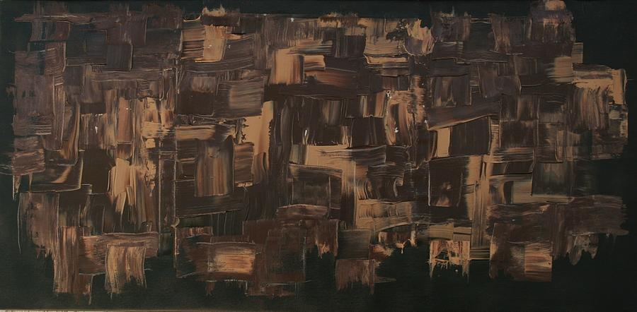 Abstract Art Painting - Brown And Brown by James Johnson