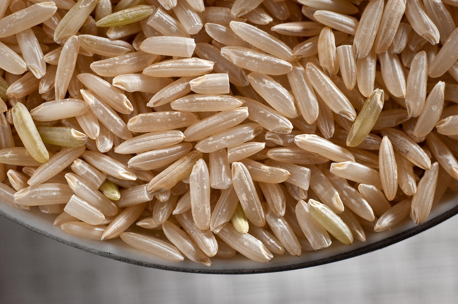 Brown Rice In Bowl Photograph