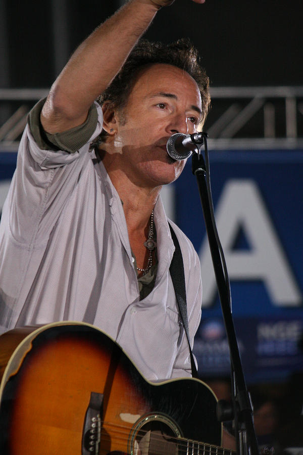 Bruce Springsteen In Cleveland Photograph