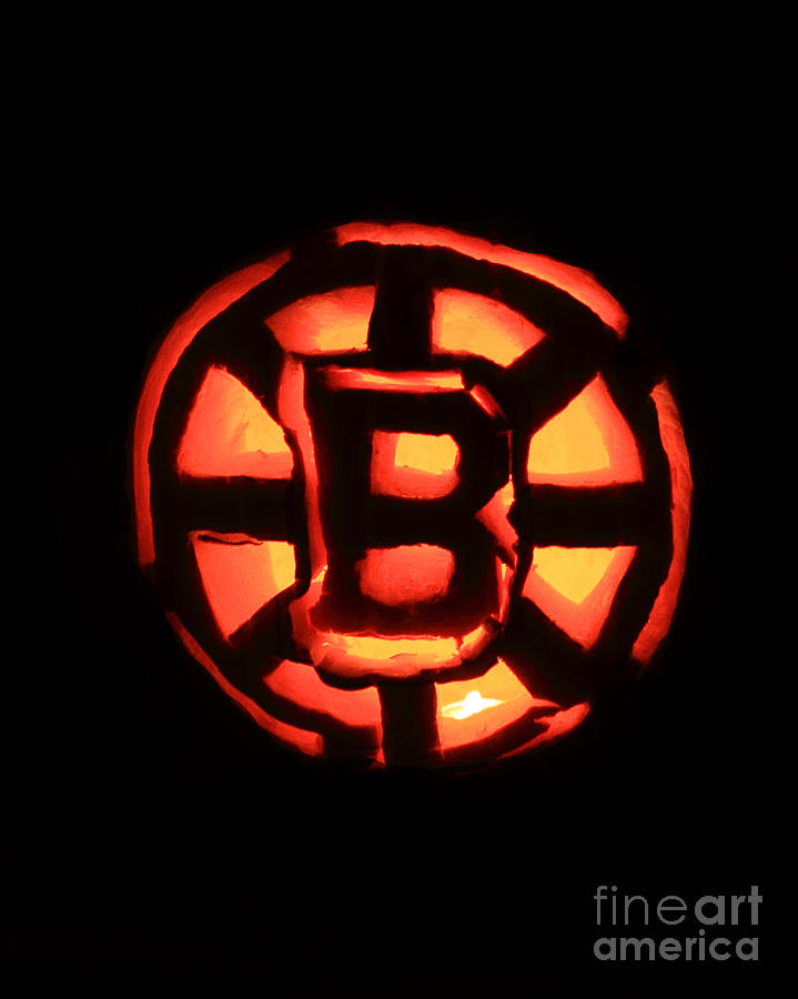 Bruins Carved Pumpkin Photograph