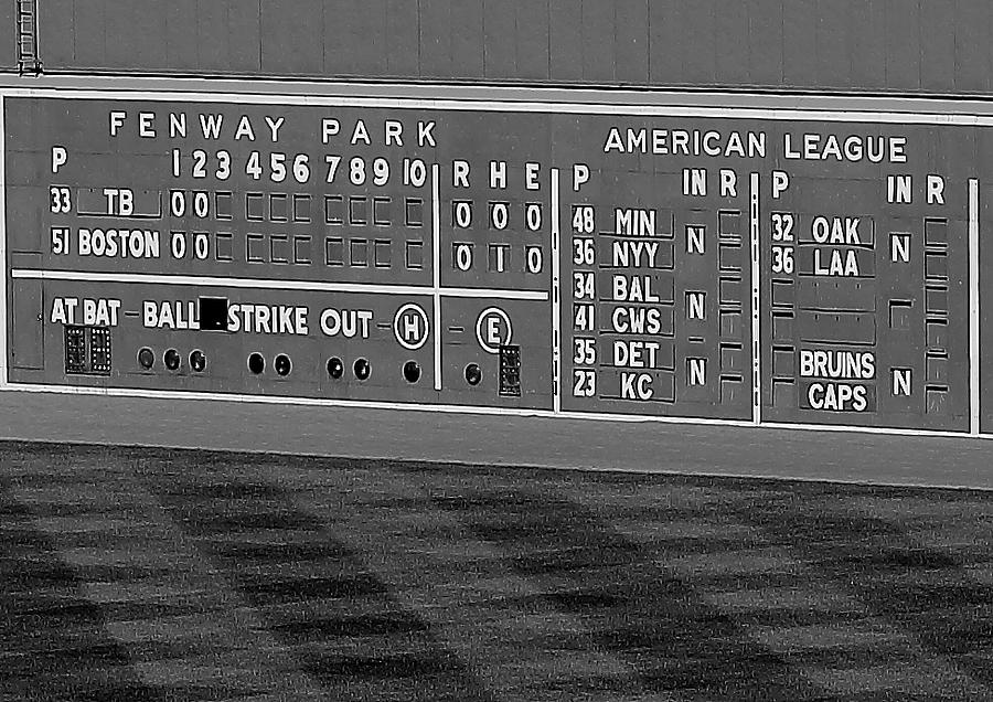Bruins On The Scoreboard Photograph  - Bruins On The Scoreboard Fine Art Print