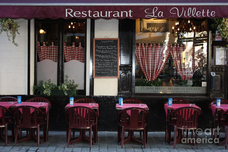 Brussels - Restaurant La Villette Photograph  - Brussels - Restaurant La Villette Fine Art Print