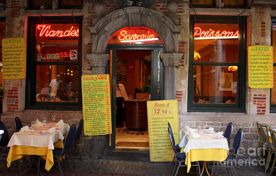Brussels - Restaurant Savarin Photograph  - Brussels - Restaurant Savarin Fine Art Print