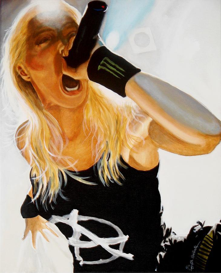 Brutal Metal Queen Painting