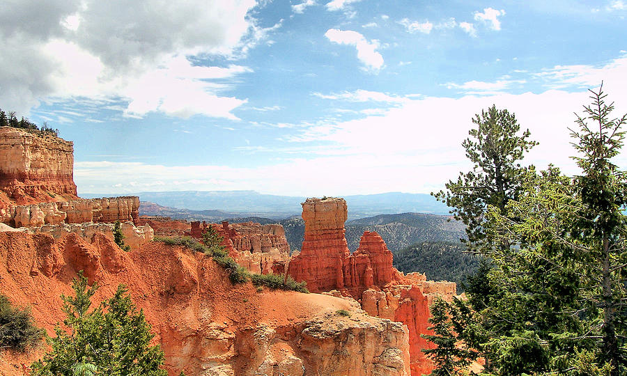 Bryce Canyon  Utah Western Vista Scene Picture Decor  Photograph  - Bryce Canyon  Utah Western Vista Scene Picture Decor  Fine Art Print