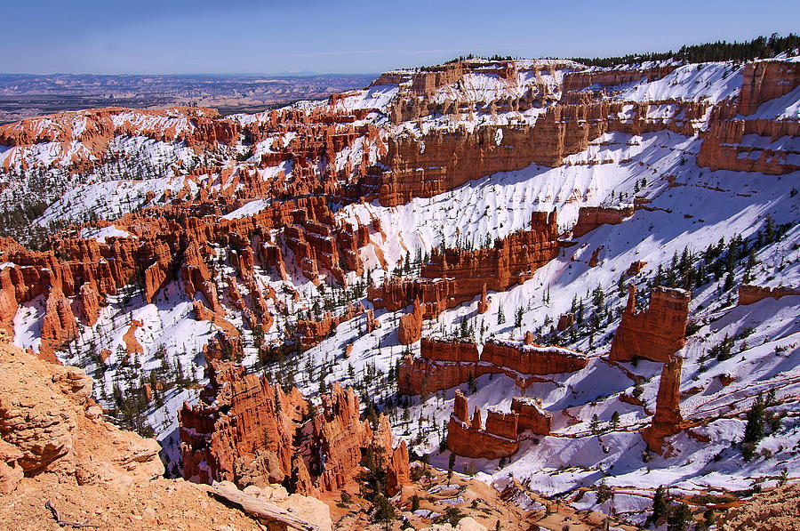 Bryce Canyon.last Snow Photograph  - Bryce Canyon.last Snow Fine Art Print