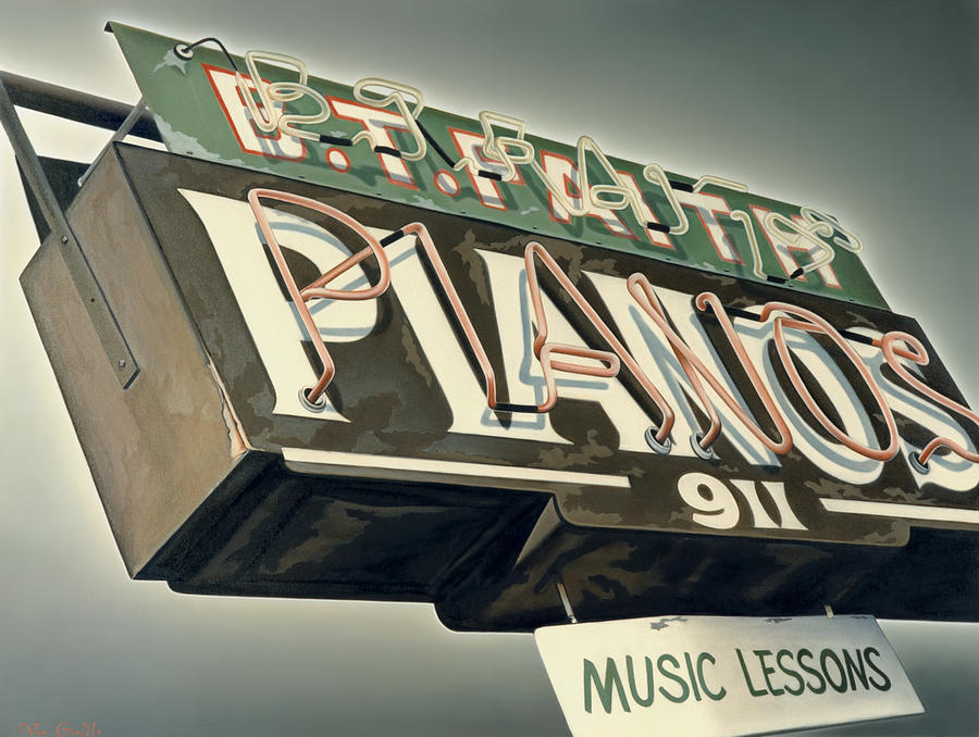 B.t.faith Pianos Painting  - B.t.faith Pianos Fine Art Print