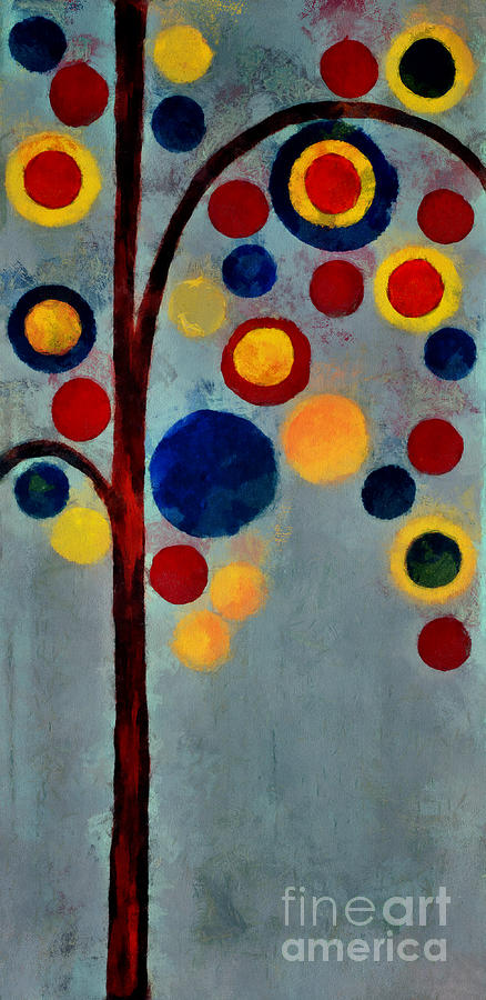 Bubble Tree - Dps02c02f - Right Painting  - Bubble Tree - Dps02c02f - Right Fine Art Print