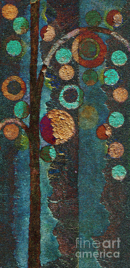 Bubble Tree - Spc02bt05 - Right Painting  - Bubble Tree - Spc02bt05 - Right Fine Art Print