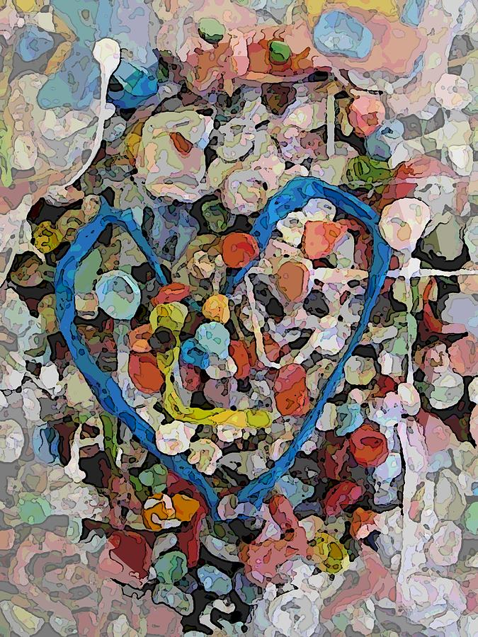 Bubblegum Love Digital Art