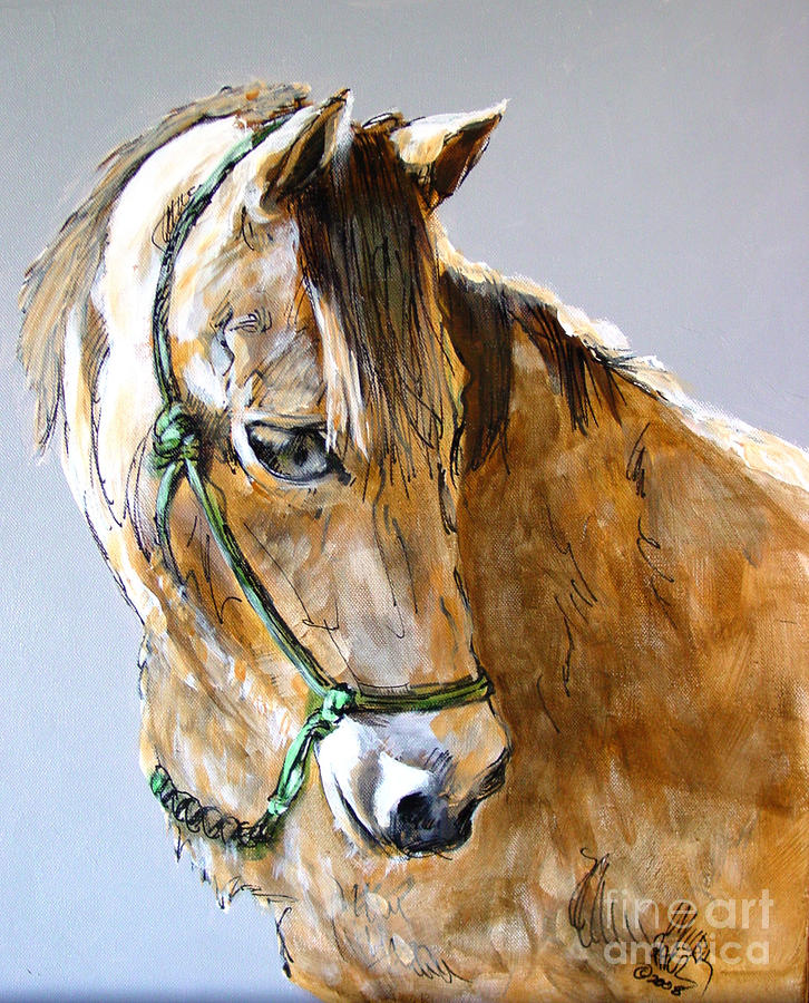 Buck Of The Morgan Horse Ranch Point Reyes National Seashore Painting  - Buck Of The Morgan Horse Ranch Point Reyes National Seashore Fine Art Print