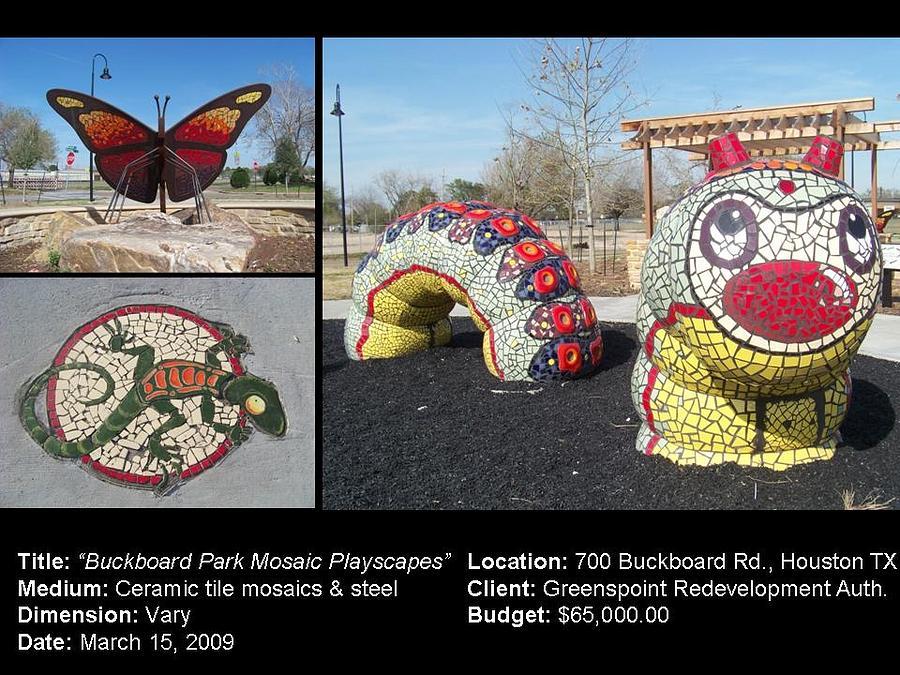 Buckboard Park Mosaic Playscape Ceramic Art