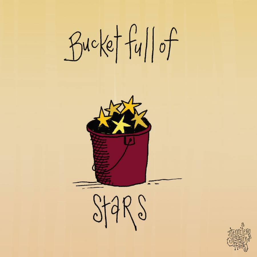 Bucket Full Of Stars Mixed Media  - Bucket Full Of Stars Fine Art Print