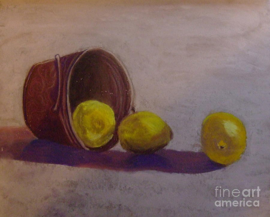 Bucket Pastel - Bucket Of Lemons by Calliope Thomas