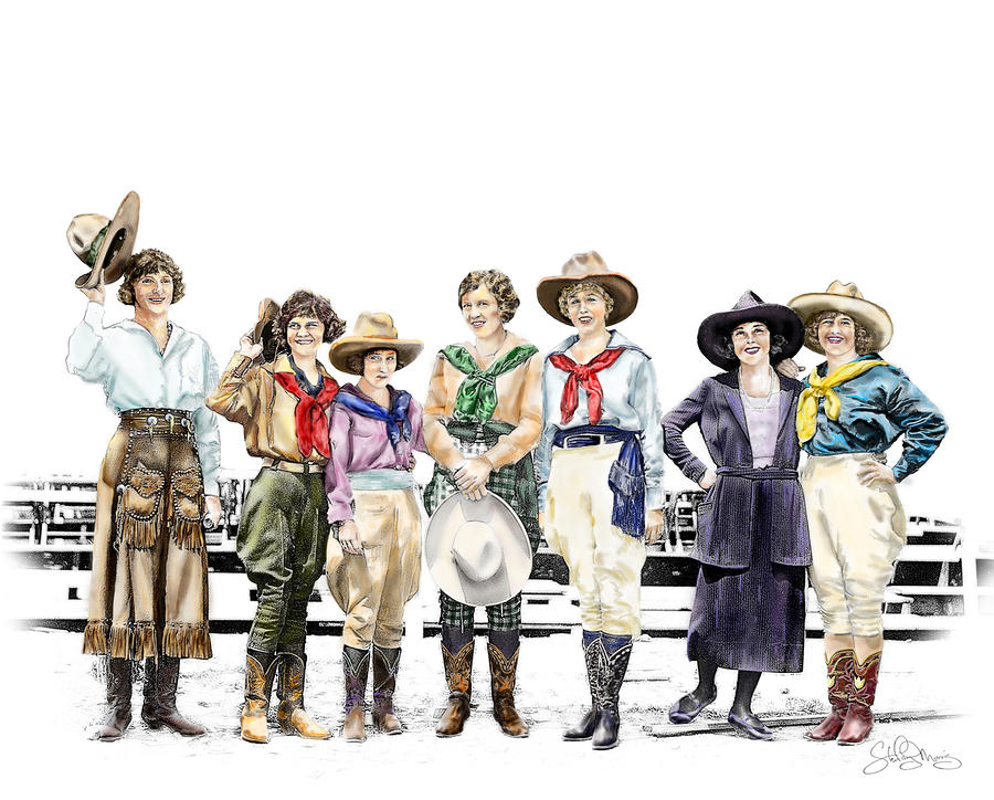 Buckin Horse Suffragettes Painting