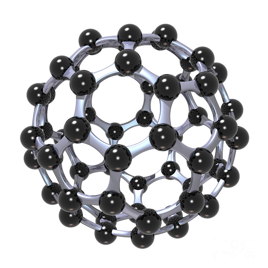 Buckminsterfullerene Or Buckyball C60 18 Digital Art
