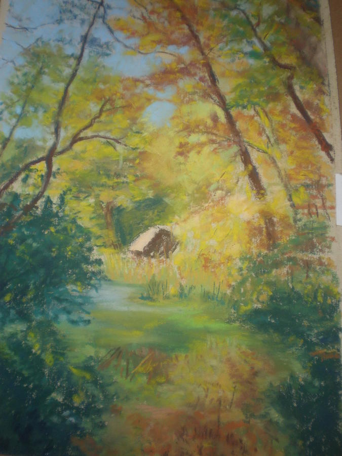 Bucks Garden Autumn Landscape Painting