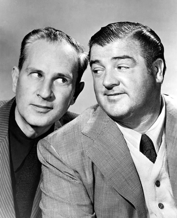 Bud Abbott And Lou Costello Abbott Photograph  - Bud Abbott And Lou Costello Abbott Fine Art Print