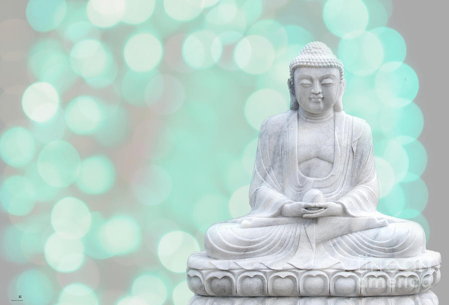 Buddha  Enlightment  Green Photograph  - Buddha  Enlightment  Green Fine Art Print