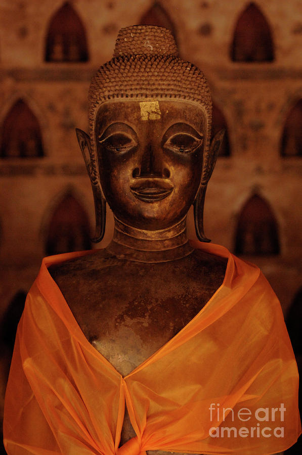 Buddha In Orange Photograph  - Buddha In Orange Fine Art Print