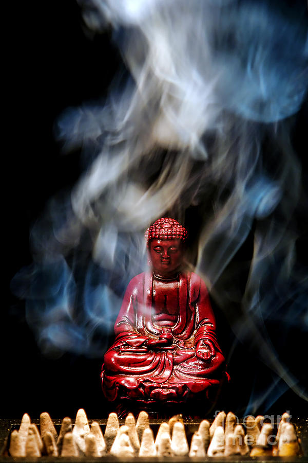 Buddha In Smoke Photograph  - Buddha In Smoke Fine Art Print