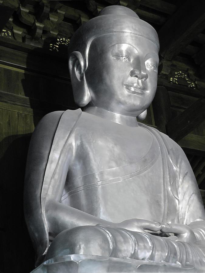 Buddha In Solid Silver - Jinan Temple Shanghai Photograph