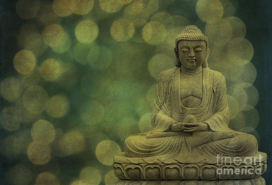Buddha Light Gold Photograph  - Buddha Light Gold Fine Art Print