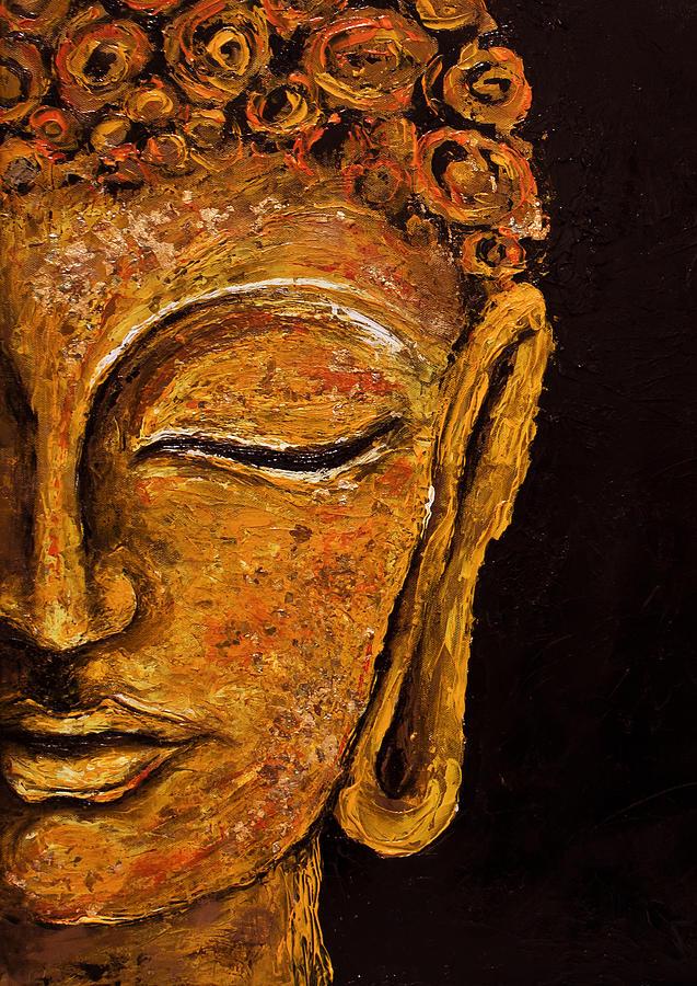 Buddha sakyamuni painting by theodora nicolescu for Buddha mural paintings