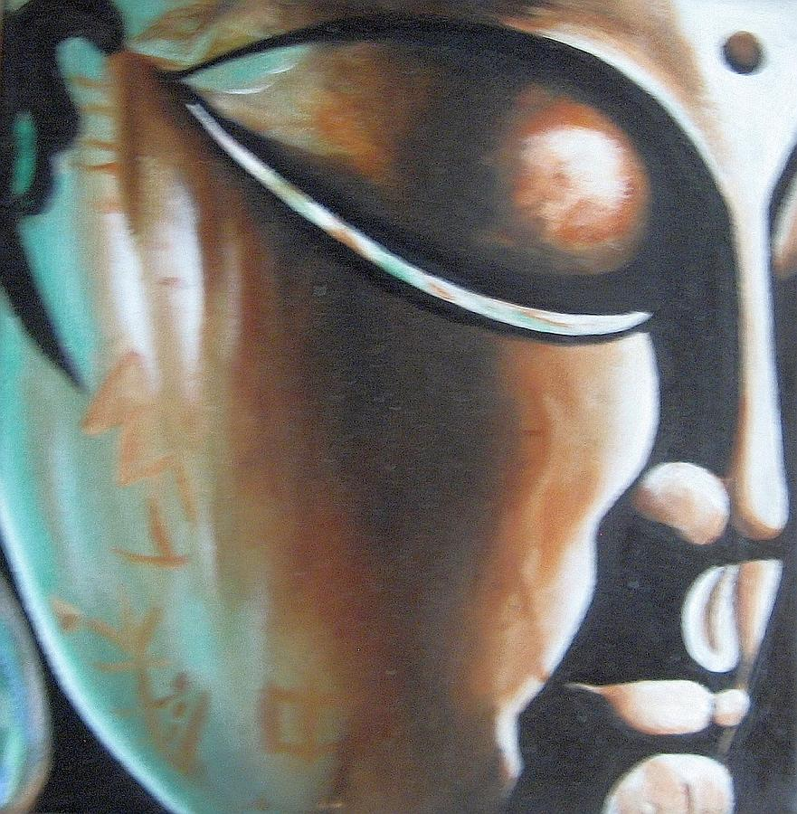 Figurative Painting - Buddha by Usha Rai