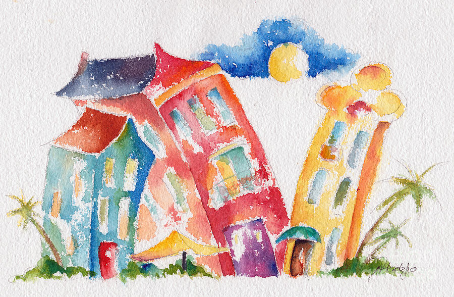 Buddy Buildings Painting  - Buddy Buildings Fine Art Print