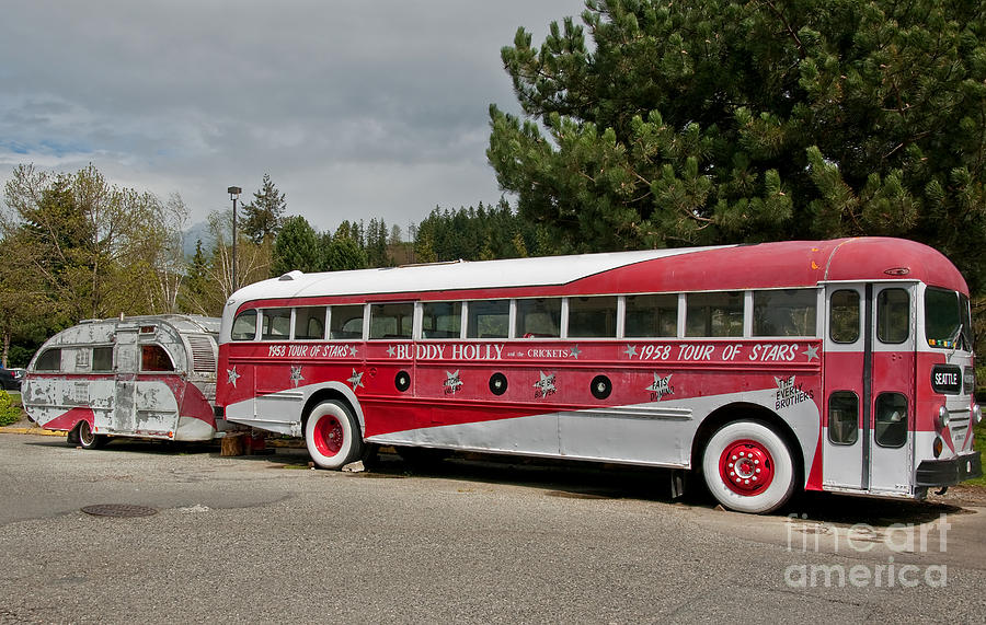 Buddy Holly 1958 Tour Of Stars Bus Photograph