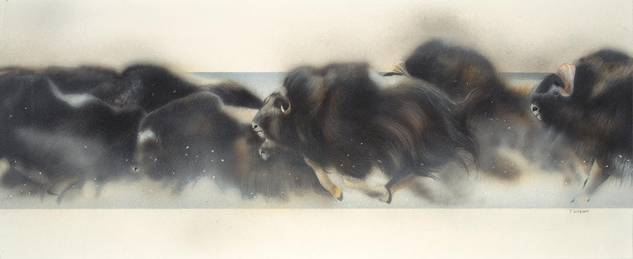 Buffalo In Winter Painting  - Buffalo In Winter Fine Art Print