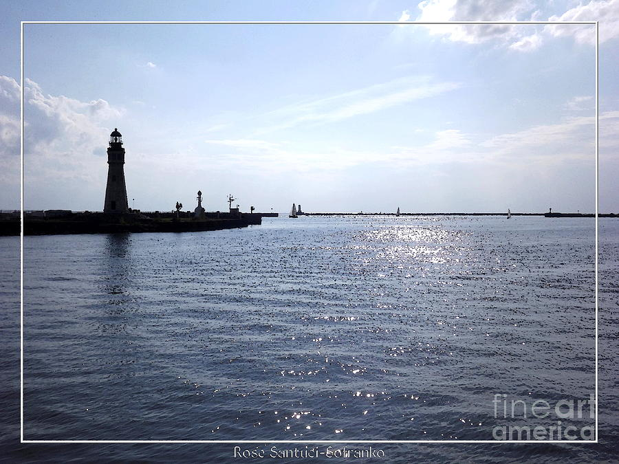Buffalo Main Lighthouse And Buffalo Harbor Photograph  - Buffalo Main Lighthouse And Buffalo Harbor Fine Art Print