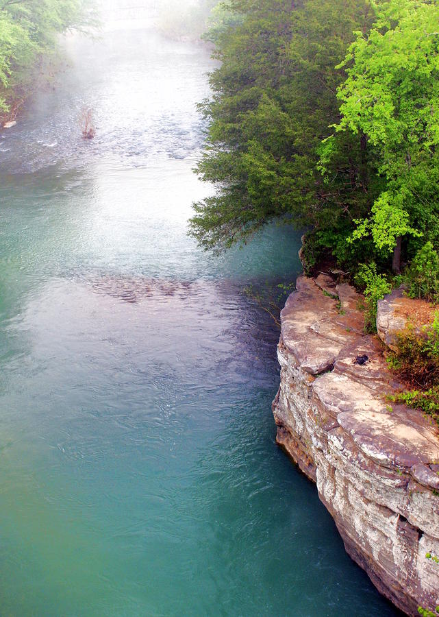 Buffalo River Mist Photograph