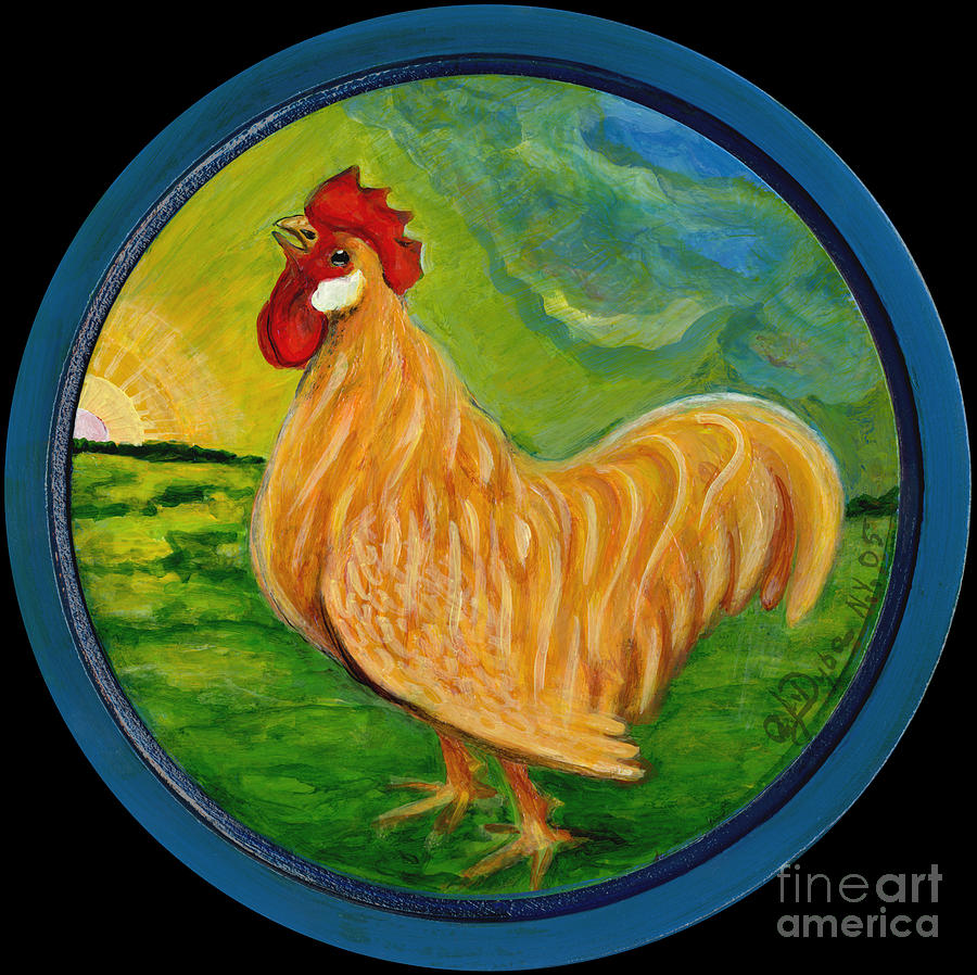 Buffy The Rooster Painting