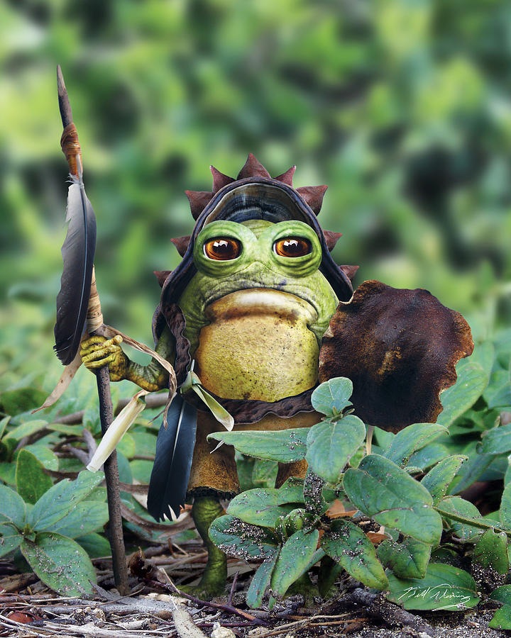 Bufo Warrior Goblin Digital Art  - Bufo Warrior Goblin Fine Art Print