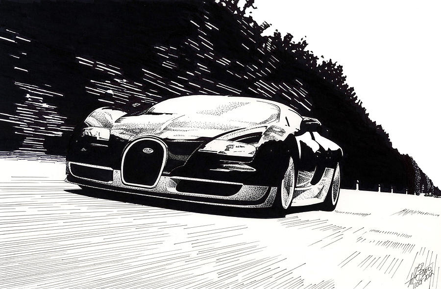 Bugatti Speed Mixed Media