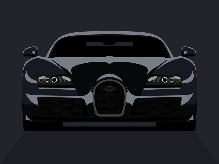 Bugatti Veyron Dark Digital Art