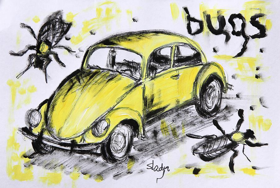 Abstract Painting - Bugs by Sladjana Lazarevic