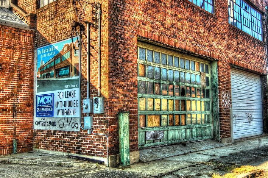 Buick Building Garage Door Digital Art By Michael Thomas