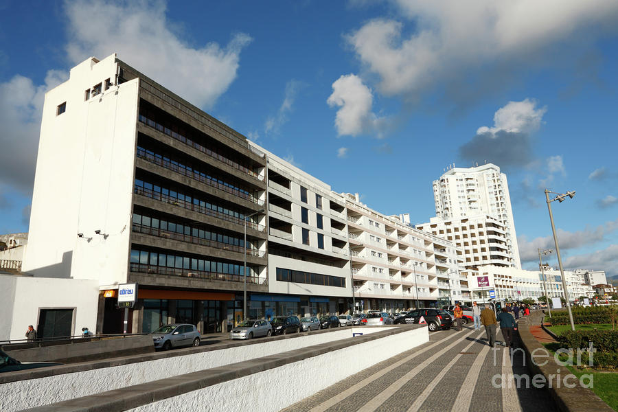 Buildings In Ponta Delgada Photograph